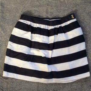 Blue & White Nautical Linen Skirt